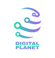 world tech logo design template network digital vector image