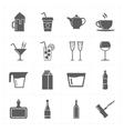 sixteen modern flat bar icons vector image