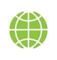 global technology icon holding globe vector image