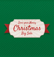 realistic greeting merry christmas tag vector image