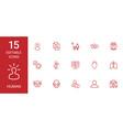 15 human icons vector image vector image