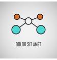 Abstract geometric lattice molecules on same vector image vector image