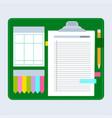 agenda note set vector image vector image