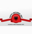 albanian independence day vector image vector image