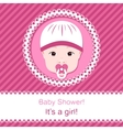 Baby girl shower vector image vector image