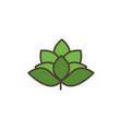 barley leaves oktoberfest icon line filled vector image vector image