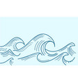 Blue water sea waves abstract background