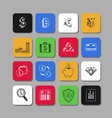 business and finance icons 5 vector image vector image