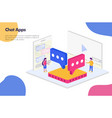 chat apps isometric design concept modern flat vector image