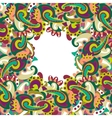 Colorful paisley frame vector image
