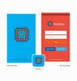 company processor splash screen and login page vector image