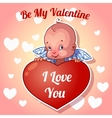 Cute little angel for Valentines Day vector image vector image