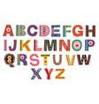 decorative colorful love alphabet vector image