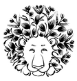 decorative silhouette of lion vector image