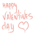 design of text on valentines day celebration vector image vector image