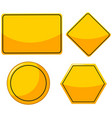 different designs for yellow signs vector image vector image