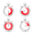 digital timers set stopwatch collection vector image vector image