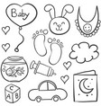 doodle of babies element collection vector image vector image