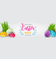 easter sale poster template with 3d realistic vector image vector image