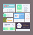 email signature web ui template for emailing vector image vector image