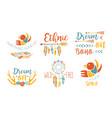 ethnic logo templates set free spirit hand drawn vector image vector image