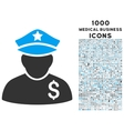 Financial Policeman Icon with 1000 Medical vector image vector image