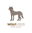 Flat wolf logo vector image