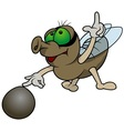Fly Playing Marbles vector image vector image