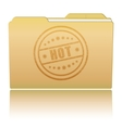 Folder with Hot damaged stamp vector image vector image