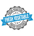 fresh vegetable stamp sign seal vector image vector image