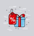 Global logistic gift cartoon vector image