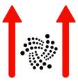 iota send arrows flat icon vector image vector image