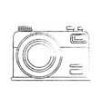 isolated vintage camera vector image vector image