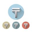 kazakhstani tenge currency symbol vector image vector image
