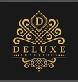 Letter d logo - classic luxurious style logo