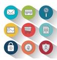 lock security online shop data design vector image