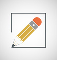 Logo drawing pencil vector image