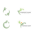 logos green tree leaf ecology vector image vector image