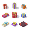 lowpoly gift boxs decorations vector image