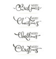 merry christmas decoration lettering composition vector image vector image