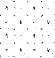 Monochromatic seamless background with arrows vector image vector image