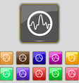 pulse Icon sign Set with eleven colored buttons vector image vector image
