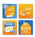 ramadan kareem social marketing vector image vector image