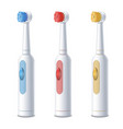 realistic detailed 3d electric toothbrush set vector image