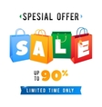 Sale Poster with percent discount of vector image vector image