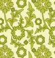 seamless green floral pattern vector image