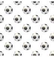 seamless pattern from football balls balls vector image vector image