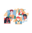 set different people avatars vector image vector image
