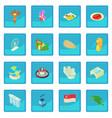 singapore icon blue app vector image vector image