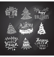 sketches Christmas trees vector image vector image